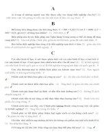 Ngân hàng câu hỏi và đáp án môn Kinh tế vĩ mô_ECO102