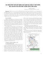 Các biện pháp thúc đẩy nông dân tham gia quản lý thủy nông, một nghiên cứu điển hình ở đồng bằng sông Hồng  Trần Văn Đạt