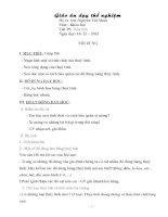 Giáo án dạy phương pháp bàn tay nặn bột lớp 5
