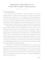 skkn đổi mới dạy và học môn NGỮ văn  từ góc NHÌN văn học là một DẠNG đạo