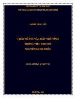 chất sử thi và chất trữ tình trong tiểu thuyết nguyễn minh châu