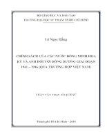 chính sách của các nước đồng minh hoa kỳ và anh đối với đông dương giai đoạn 1941 – 1946 (qua trường hợp việt nam)