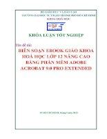 biên soạn ebook giáo khoa hoá học lớp 12 nâng cao bằng phần mềm adobe acrobat 9 0 pro extended
