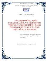 xác định đồng thời paracetamol và ibuprofen trong các dược phẩm bằng phương pháp sắc ký lỏng hiệu năng cao   hplc