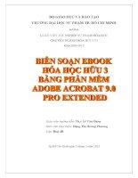 biên soạn ebook hóa học hữu 3 bằng phần mềm adobe acrobat 9 0 pro extended