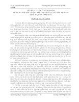 SÁNG KIẾN KINH NGHIỆM  sử DỤNG PHƯƠNG PHÁP GIẢI NHANH bài tập TRẮC NGHIỆM KHÁCH QUAN môn HOÁ