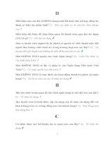 Ngân hàng câu hỏi và đáp án môn Luật ngân hàng LAW111