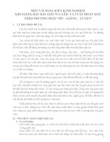 """skkn một vài SÁNG KIẾN KINH NGHIỆM KHI GIẢNG dạy bài AXIT NUCLÊIC và TUẦN HOÀN máu THEO PHƯƠNG PHÁP """"ôn – GIẢNG – LUYỆN"""""""