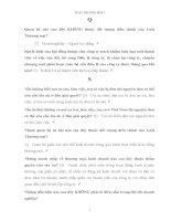 Ngân hàng câu hỏi và đáp án môn Luật thương mại I - LAW108
