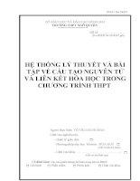 skkn hệ THỐNG lý THUYẾT và bài tập về cấu tạo NGUYÊN tử và LIÊN kết hóa học TRONG CHƯƠNG TRÌNH THPT