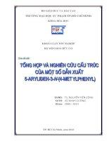 """Tổng hợp và nghiên cứu cấu trúc của một số dẫn xuất 5 benzyliđen 3 n (4 metylphenyl) 2 thioxothiazoliđin 4  on"""""""