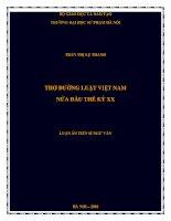 thơ đường luật việt nam nửa đầu thế kỷ xx