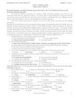 Đề thi và đáp án ôn thi tiếng anh lớp 12 tham khảo bồi dưỡng (14)