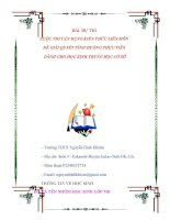 Bài dự thi kiến thức liên môn dành cho học sinh trung học cơ sở (1)