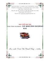 Bài dự thi kiến thức liên môn dành cho học sinh trung học cơ sở (6)