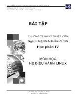 Bài tập môn học hệ điều hành linux