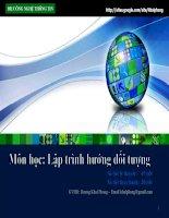 Bài giảng lập trình hướng đối tượng  chương 1   GV  dương khai phong