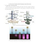 Tính toán máy khoan gia cố xi măng  đất (cọc xi măng  đất)