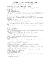 giáo án mầm non CHỦ đề các HIỆN TƯỢNG tự NHIÊN bản 1