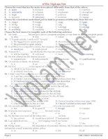 Đề thi và đáp án ôn thi tiếng anh lớp 12 tham khảo bồi dưỡng (19)