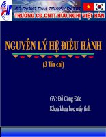 Bài giảng nguyên lý hệ điều hành  chương 3   GV  đặng quang hiển