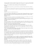 Hướng dẫn trả lời câu hỏi ôn tập vật lí 6- học kì 2- năm học 2014-2015