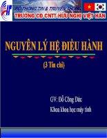 Bài giảng nguyên lý hệ điều hành  chương 2   GV  đặng quang hiển