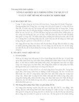 skkn NÂNG CAO HIỆU QUẢ TRONG CÔNG tác QUẢN lý và lưu TRỮ hồ sơ, sổ SÁCH các KHÓA học