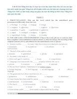 Đề thi và đáp án ôn thi tiếng anh lớp 12 tham khảo bồi dưỡng (18)