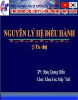 Bài giảng nguyên lý hệ điều hành  chương 1   GV  đặng quang hiển