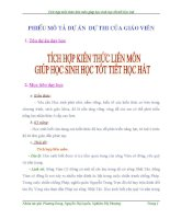 Bài dự thi kiến thức liên môn dành cho học sinh trung học cơ sở (9)