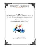 Bài dự thi kiến thức liên môn dành cho học sinh trung học cơ sở (20)
