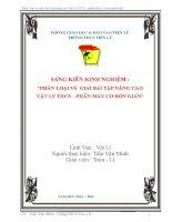 skkn PHÂN LOẠI VÀ GIẢI BÀI tập NÂNG CAO vật LÝ THCS –PHẦN MÁY cơ đơn GIẢN