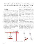 Cơ sở lí thuyết để xây dựng mô hình động học của cần trục tháp kiểu tháp cố định, đầu bằng  ThS. Nguyễn Anh Tuấn