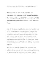 Thủ thuật biến windows vista thành windows 8 hay nhất