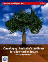 Cleaning up australia's readiness for a low carbon future   2012 progress report