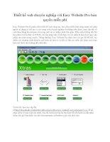 Thiết kế web chuyên nghiệp với easy website pro bản quyền miễn phí
