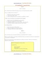 sample speaking test