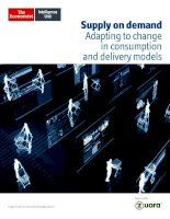 Supply on demand adapting to change in consumption and delivery models