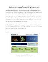 Hướng dẫn chuyển đuôi PDF sang ảnh