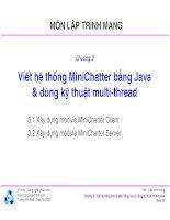 Bài giảng môn lập trình mạng  chương 3   TS  nguyễn văn hiệp