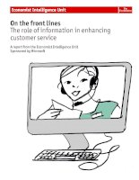 On the front lines the role of information in enhancing customer service