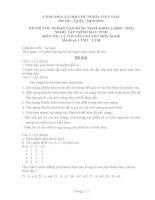 Đề thi đáp án lý thuyết lập trình máy tính năm 2012 (mã đề LT9)