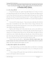skkn xây DỰNG CHƯƠNG TRÌNH KIỂM TRA, ĐÁNH GIÁ kết QUẢ THỰC HÀNH MS WORD của học SINH lớp 10 và CHỨNG CHỈ a