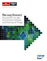 The way forward  insurance in an age of customer intimacy and internet of things
