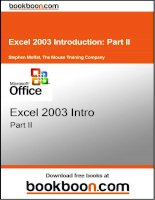 Excel 2003 introduction part II