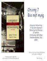 Computer networking  a top down approach featuring the internet   chương 7