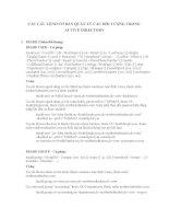 CÁC câu LỆNH cơ bản QUẢN lý các đối TƯỢNG TRONG ACTIVE DIRECTORY