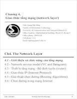 Bài giảng mạng máy tính và internet  chương 4   trần quang hải bằng