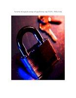 Security tài nguyên mạng với quyền truy cập NTFS   phần 3 4  trước khi bắt đầu